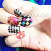 2015 Tiebeauty new design nail wraps/Japanese style girls nail sticker