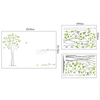 ZOOYOO green tree wallpaper tree wall paper wallpaper for home decoration (PB7216AB)