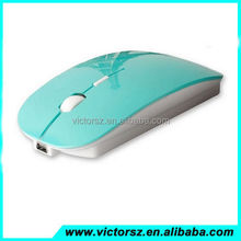 2.4G USB Receiver Super Slim Adjustable DIP Rechargeable Wireless Gaming Mouse
