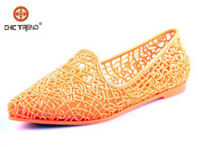 2015 latest design pvc jelly shoes injection flats melissa shoes mary jane dance shoes