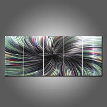 Wholesale Hand Painted Artwork Abstract Line Oil Painting On Canvas Handmade Black And Green Oil Painting For Wall Decoration