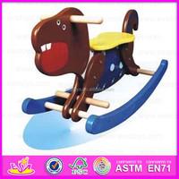 2015 Educational customized intelligence rocking horse,Fashion wooden toy rocking horse,Indoor spring rocking horse toy WJY-8107
