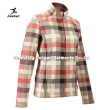 Factory direct sales Polyester polar fleece colorful plaid men's coat