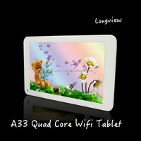 """7"""" A33 tablet 2015 new Android 4.4 KitKat Quad Core 7inch wifi Tablet PC Bluetooth front and rear Cameras"""