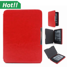 Magnet Cover For Amazon 2014 New Kindle Case 6'' Ereader Fashion PU Leather Case for New Kindle 7th Gen ,2014 Ebook Case