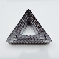 5pcs triangle stainless steel flame shaped cookie cutter and molds