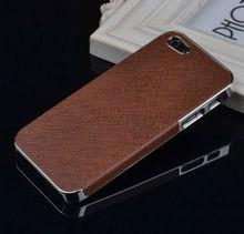 Stock Hot cromo de lujo mueve hacia atrás difícilmente la cubierta del caso para el iPhone 5 5S