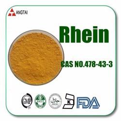 Herb Medicine Rhubarb Extract Powder Rhein 98% CAS No.: 478-43-3