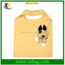 Custom nylon animal dog shaped foldable shopping bag