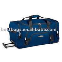 NAVY BLUE Rolling Duffle bag