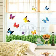 30pcs Butterfly bushes cartoon wall stickers children's room stickers - living room bedroom wall stickers - wall decor