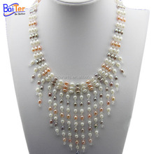 Wholesale pearl necklace jewelry small pearl water crystal fashion modern pearl necklace pictures