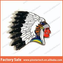 Indian Chief Head Custom Enamel Metal Pin Badge For Coat Hat Jacket Bag Biker Gift