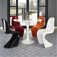 Wholesale chinese modern S shape dining plastic chair