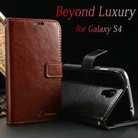 Engraving wallet cover case for Samsung S4, book wallet leater hand phone case for S4, wallet flip leather case cover pouch