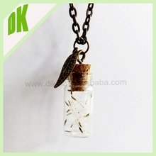 - a beautiful present or a gift for yourself **** Handmade Decorative Mini Dandelion Wish Glass Bottle Necklace