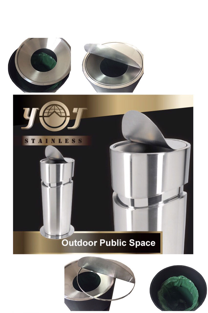 new steel kitchen design decorative trash recycle waste