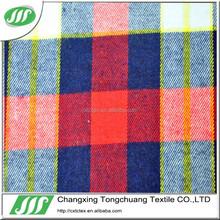 garment fabric 100% cotton check shirt fabric FLR-037
