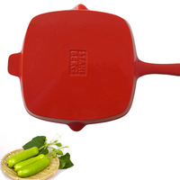 Taobao specifically for enamel enamel cast iron frying pan steak with marked genuine original single uncoated iron pan