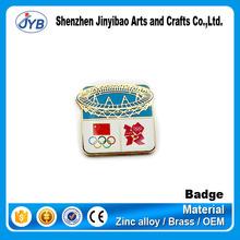2012 Bird's nest stadium souvenir print sports meet pins badges for sale