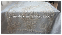 white beads sequins embroidery table overlays handmade beaded tablecloths