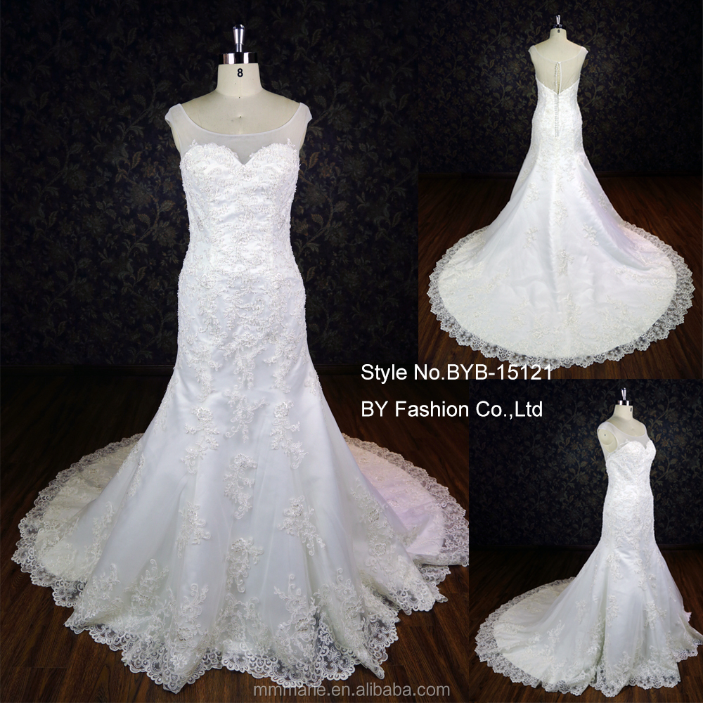 Luxury heavy beaded bride dress lace up back long train for Heavy beaded wedding dresses