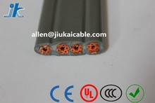 VDE Standard PVC/Rubber insulation & sheathed cold/fire/oil resistant Flat Elevator components Travel Cable