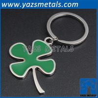 soft enamel metal four leaf clover keychain