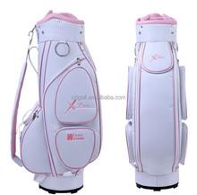 2015Hot selling lady golf cart bag PU golf bag