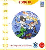 Full printing logo button Tin badges metal manufacturer
