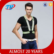 reflective elastic stretch waist belt with snaps