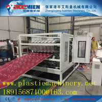 arc bias glazed tile roll forming machine for ASA coated corrosion resistance synthetic resin spanish roof tile