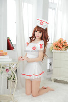 Lady doctor Satin sexy lovely hot sale sexy nurse lingeries