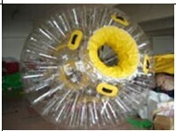 настроить желтый высокого качества ПВХ Аква зорб шар/тело зорба мяч на