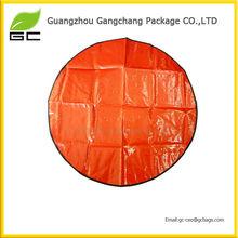 Popular design round plastic mat for beach for sale