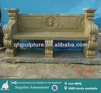Garden sandstone bench