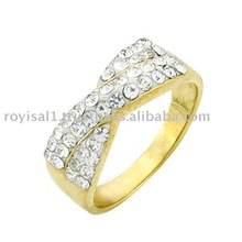 Gold Crystal Ring 14 K