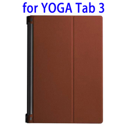 Trustworthy Supplier Karst Texture Leather Case Cover for Lenovo YOGA Tab 3 with Sleep / Wake-up Function