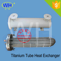 WH Best Quality 40HP shell and tube heat exchanger price, titanium heat exchanger