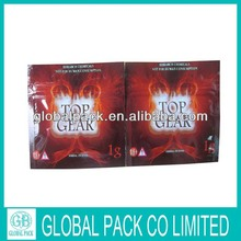 new design globalpack top gear 1g herbal incense bag