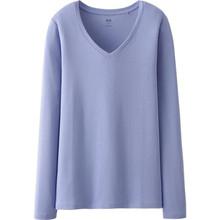 ATS077 wholesale Women's Cotton V-neck t shirt