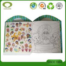 Custom printed kids sticker book