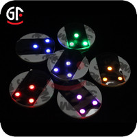 China Wholesale Party Decoration Free Sample Glow in the dark Bar Led Coaster