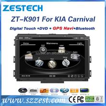 ZESTECH car dvd player gps phonebook 10vcdc/car stereo for Kia Carnival