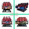 Hot sale Middle 5D movie cinema , 6 seats luxury chair, 5D cinema equipment wholesale