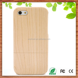 new hot products 2015 real wood phone case for iphone 5 5s, blank wood hard case cover for iphone 5