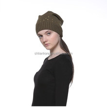 high quality knit puffball winter hat