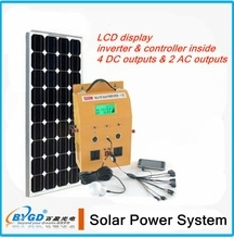 1200W DC-AC portable complete home solar system price per watt solar panels(BYGD-1200Y)