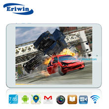 7.85 inch IPS screen Quad core tablet pc with 7.6mm thickness with bluetooth tablet pc android in me