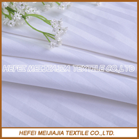 High quality and cheap 100% cotton white satin stripe fabric